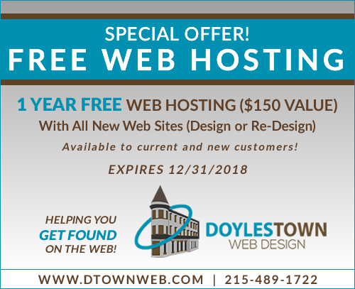 coupon - 1 year free web hosting with new web site design or re-design; expires 12/12/2018